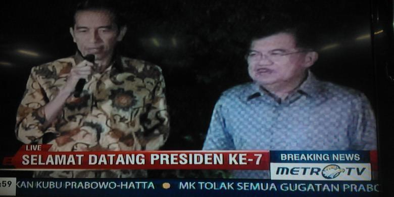 Jokowi JK adakan konferensi pers