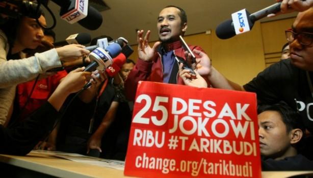 Ketua KPK Abraham Samad minta presiden Jokowi membatalkan pencalonan Budi Gunawan (foto: JG Photo)