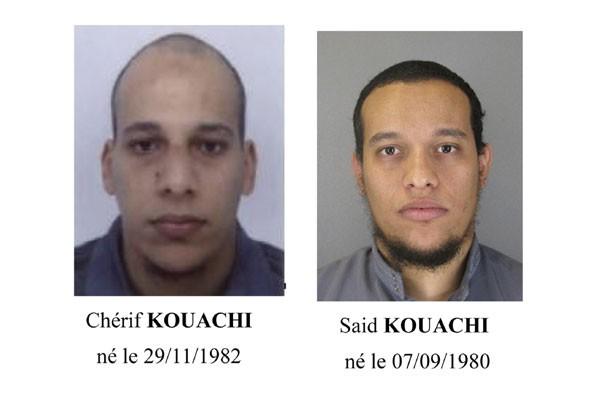 Cherif Kouachi (kiri) dan Said Kouachi (foto: Reuters)