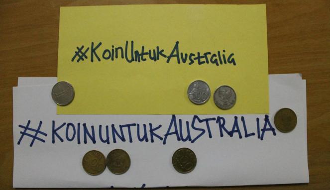 Koin untuk Australia (foto: vivanews)Koin untuk Australia (foto: vivanews)