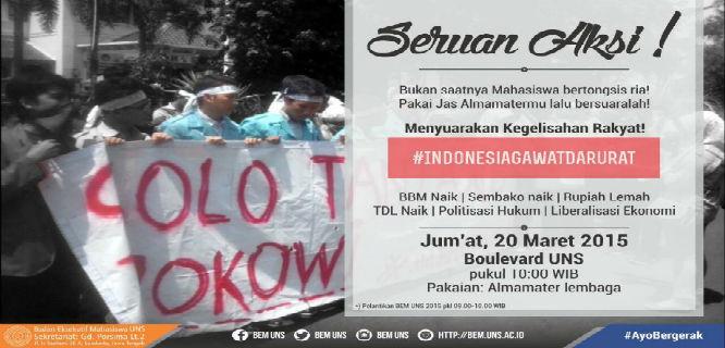 Demo Protes Jokowi (foto: @BEMUNS)