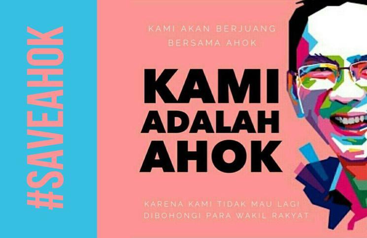 Poster #SaveAhok (gambar: dipake.com)