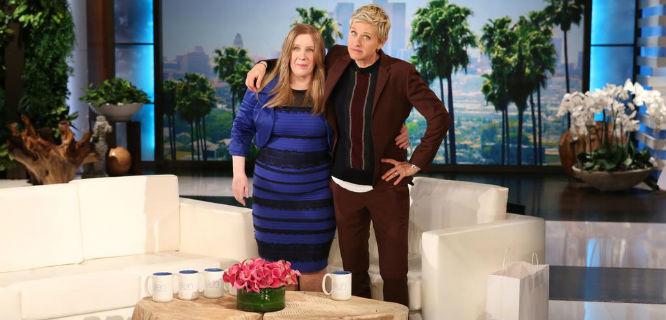 Bleasdale (kiri) dan DeGeneres (foto: @TheEllenShow)