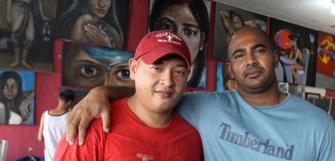 Andrew Chan (kiri) dan Myuran Sukumaran (foto: http://cindywockner.com)