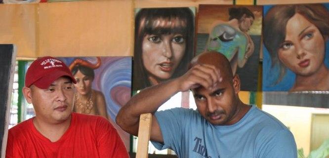 Andrew Chan (kiri) dan Myuran Sukumaran (foto: http://cindywockner.com/)