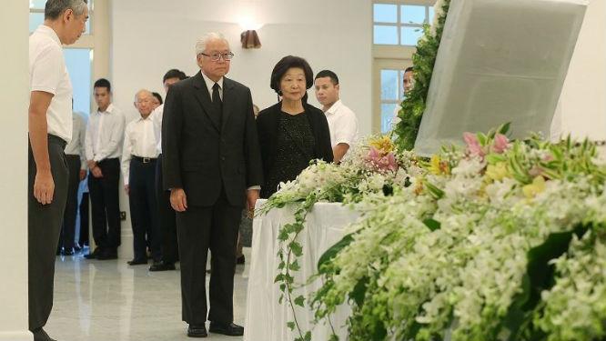Presiden Singapura, Tony Tan Keng Yam, beserta istrinya, Mary. (foto: channelnewsasia)