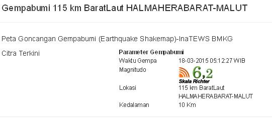 Gempa Halmahera (foto: BMKG)