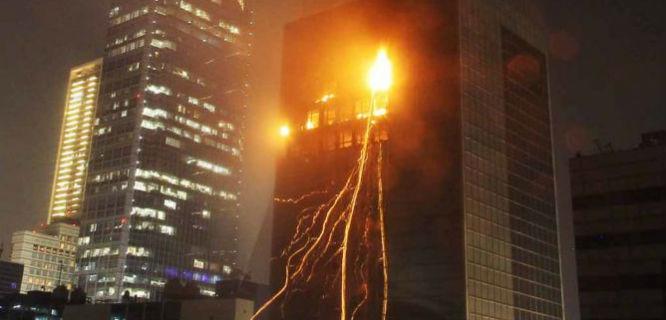 Kebakaran Wisma Kosgoro (foto: metrotvnews)