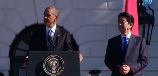Barack Obama dan Shinzo Abe (foto: Gedung Putih)