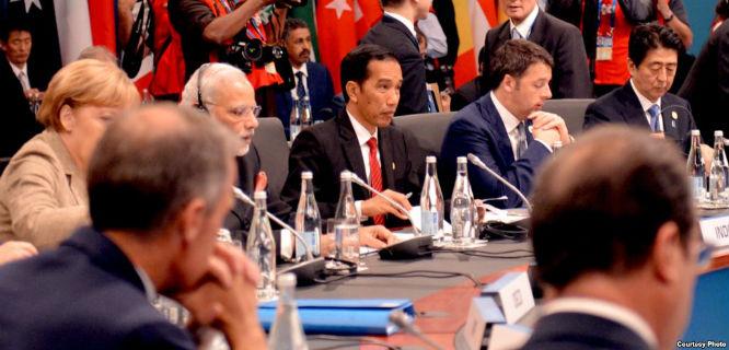 Jokowi saat KTT G20, November 2014 (foto: Sekretariat Kabinet)