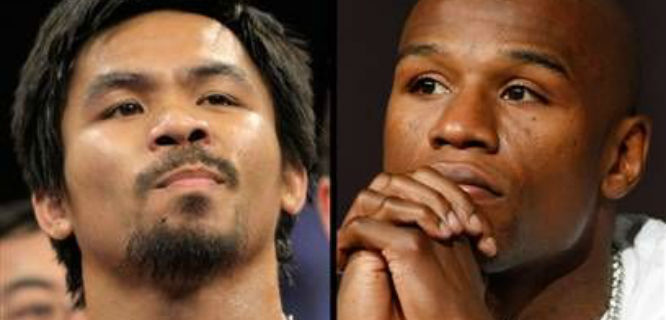Pacquiao vs Mayweather (foto: theboxingtribune)