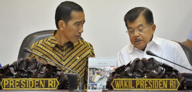 Joko Widodo dan Jusuf Kalla (foto: Antara)