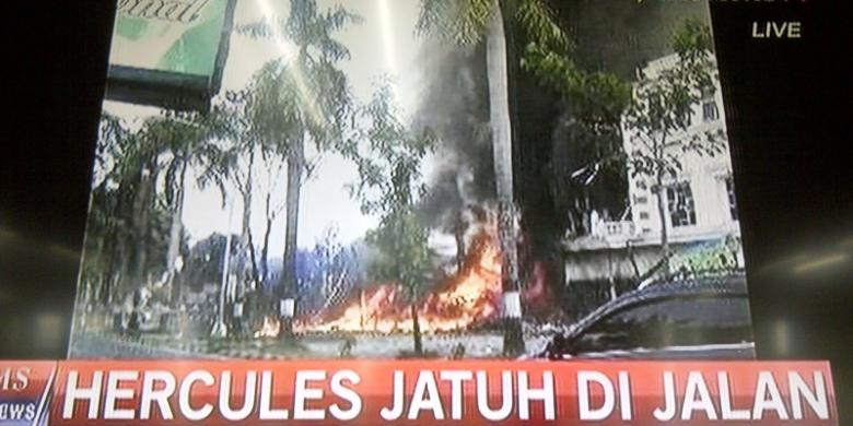 Hercules Jatuh di Jalanan Kota Medan (foto: KompasTV)