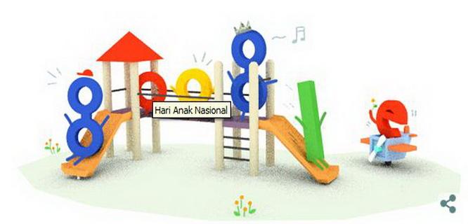 Google Doodle Peringati Hari Anak Nasional 2015
