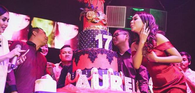 Aurel Hermansyah dalam acara Sweet Seventeen (foto: @aurelie.hermansyah)