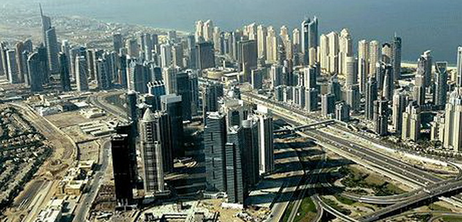 Bangunan tinggi di Dubai (foto: Telegraph)