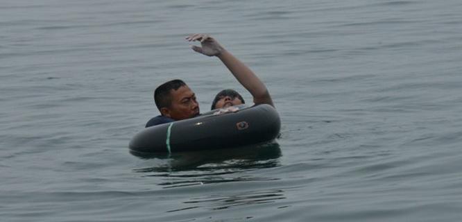 Fransiskus Subihardayan ditemukan selamat dari kecelakaan helikopter di Danau Toba (foto: JPNN)