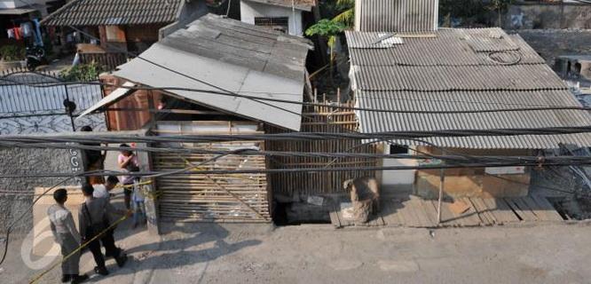 bedeng tempat Agus Darmawan membunuh Putri Nur Fauziah (foto: Liputan6)