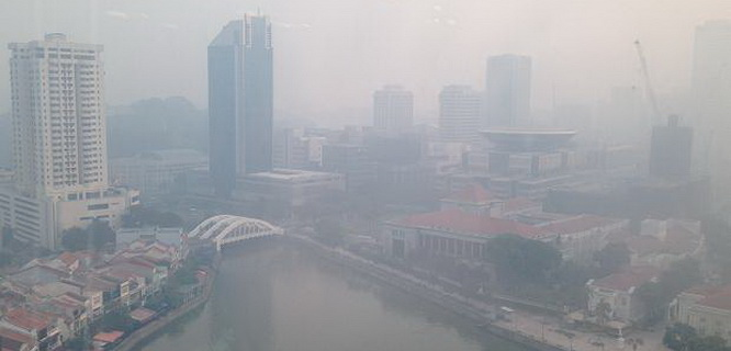 Kabut asap Singapura (foto: asianews.it)