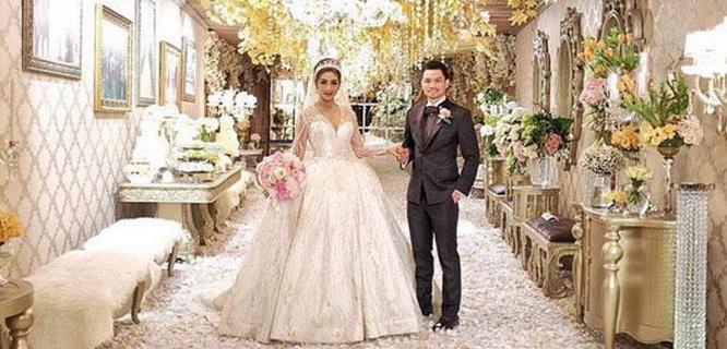 Foto pernikahan Nabila Syakieb dan Reshwara Argya Radinal (foto: @nsyakieb85)