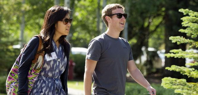 Priscilia Chan & Mark Zuckerberg (foto: qz.com)