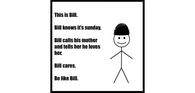 salah satu contoh meme Be Like Bill yang diunggah oleh pemilik Facebook page