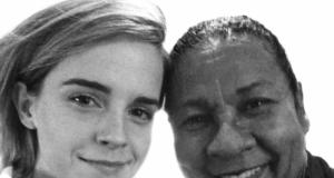 Emma Watson dan bell hook (foto: Papermag)