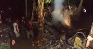 Helikopter TNI AD jatuh di Poso (foto: Kompas)