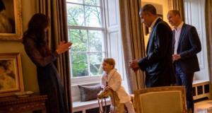 Pangeran George bertemu dengan Barack Obama (foto: @KensingtonRoyal)