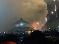 Kuil di India Selatan terbakar (foto: voa Indonesia)