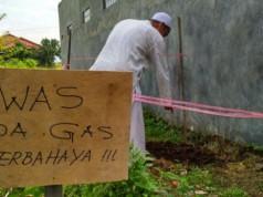 Penemuan Sumber Air Panas di Perumahan Vila Ratu Endah Bogor (foto: Berita Satu)