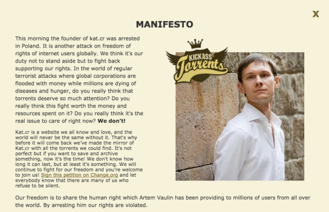 Artem Vaulin (sumber: http://kickasstorrents.website/)