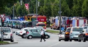 Suasana sekitar lokasi penembakan di Munich (Foto: CNN)