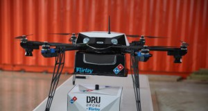 Drone hasil kerja sama Domino's Pizza dan Flirtey (foto: dominos.co.nz)