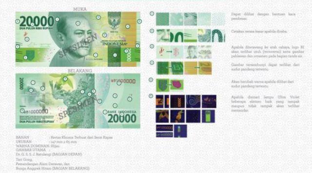 Uang Baru 2016 Rp20.000,00