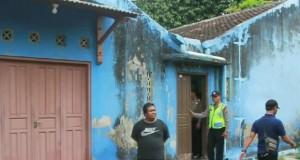 Rumah kontrakan yang diduga dihuni terduga teroris KF di Sukoharjo Jawa Tengah (foto: Berita Satu)