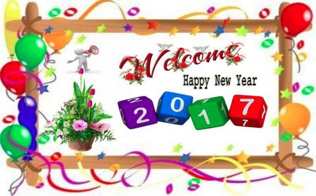 Kumpulan Gambar Ucapan Tahun Baru 2017 Happy New Year Puisi Sms