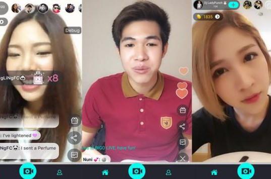Tampilan aplikasi Bigo Live untuk perangkat Android