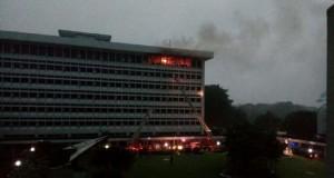 Gedung TNI AU Cilangkap Terbakar (foto: detikcom)