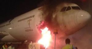 Genset Garuda Indonesia terbakar