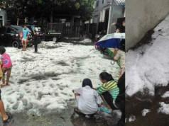 Hujan es di Bandung (foto: Merdeka)