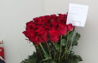 Karangan bunga untuk Ahok (foto: Kompas)
