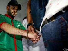 Ridho Rhoma ditangkap (foto: detikcom)
