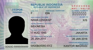 Contoh Paspor Indonesia