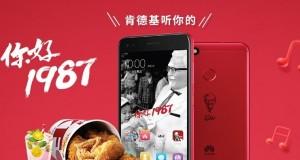 Ponsel edisi terbatas Huawei Enjoy 7 Plus (foto: kfc.world.tmall.com)