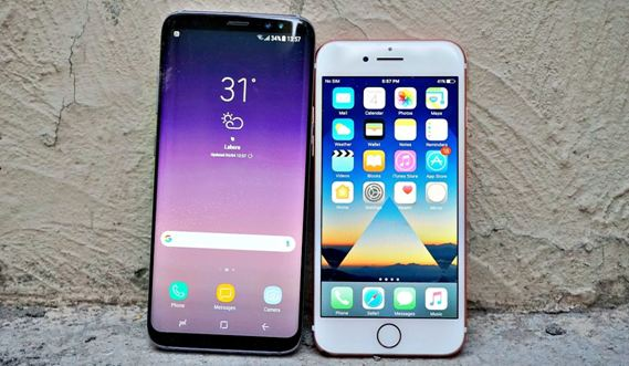 samsung s8 vs iphone 7