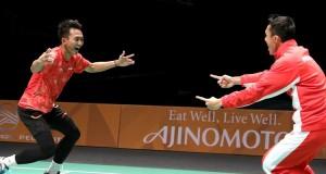 Ihsan Maulana Mustofa dan Jonatan Christie (foto: juara.bolasport.com)