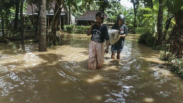 Banjir di Yogyakarta (foto: Antara)
