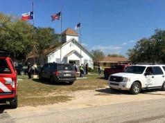 Suasana lokasi penembakan di Gereja First Baptist di Texas