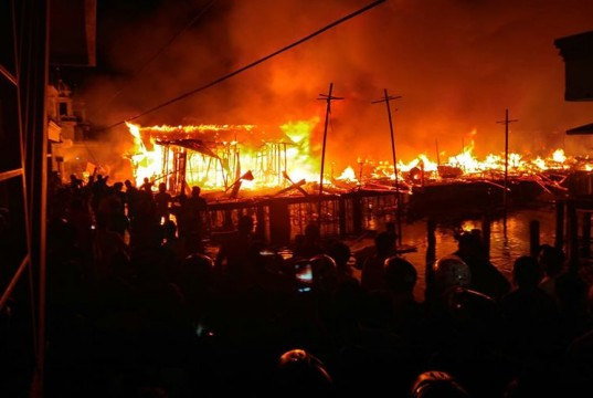 Kebakaran Hebat Terjadi di Ternate (foto: Kompas)